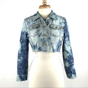 Custom Bleach Tie Dye Denim Jacket